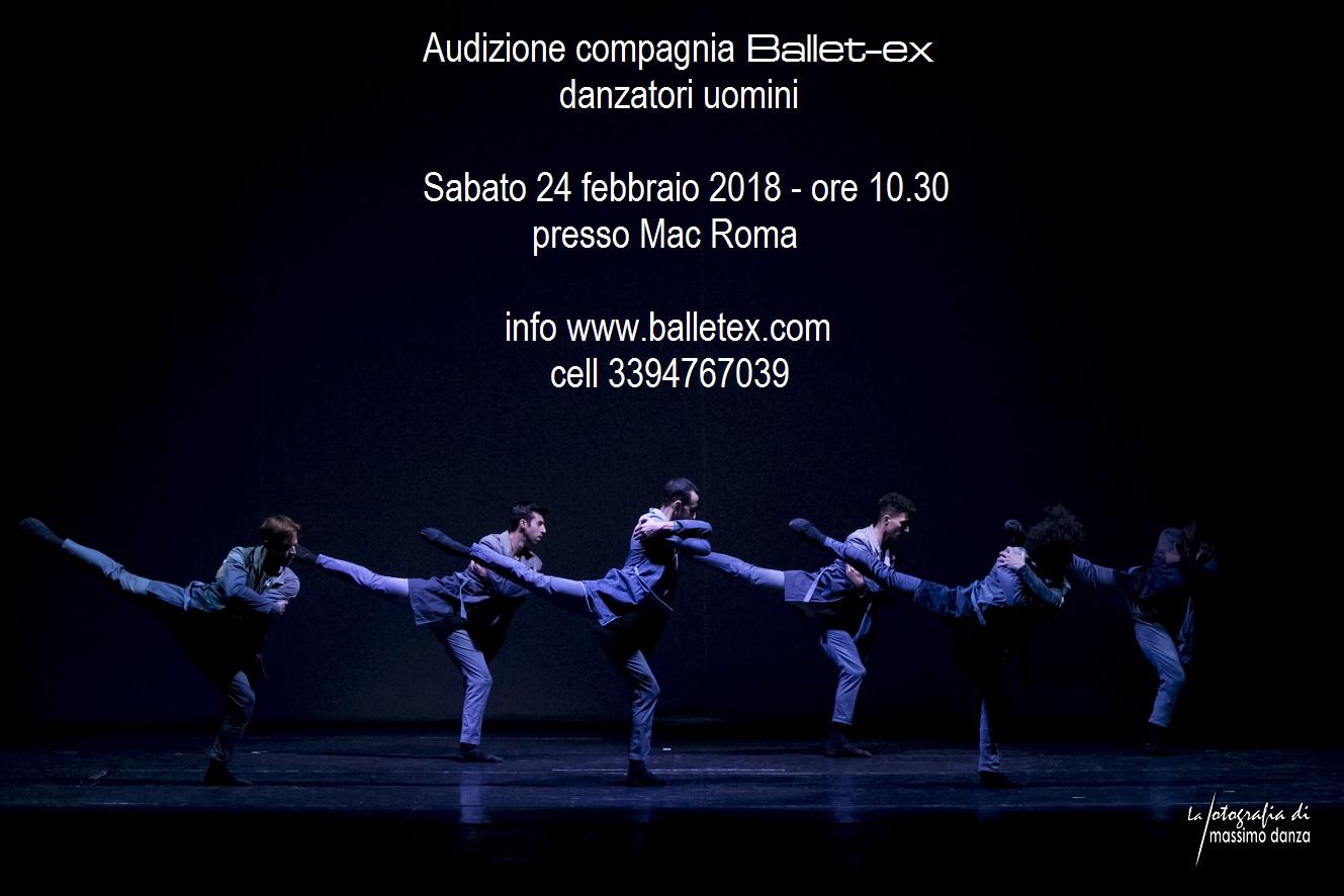 Audizione compagnia Ballet-ex 2018